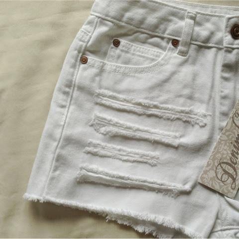 Sammi Jackson - Primark Distressed Denim Shorts