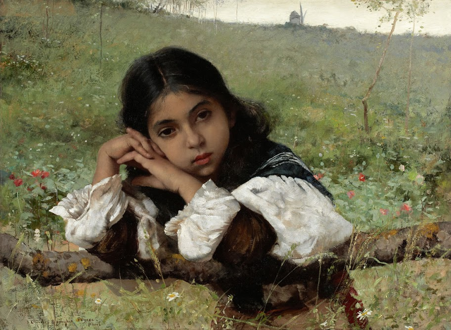 Charles Sprague Pearce – Moments of Thoughtfulness