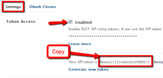 retrieve token from Zendesk