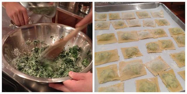 spinach risotto ravioli