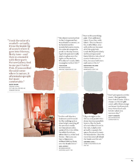 Beautiful Home Part 1: House Beautiful Color Charts {Part V}