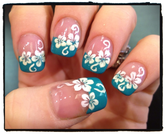 Toe nail designs for hawaii : Go back gt gallery for hawaiian flower toe nail designs