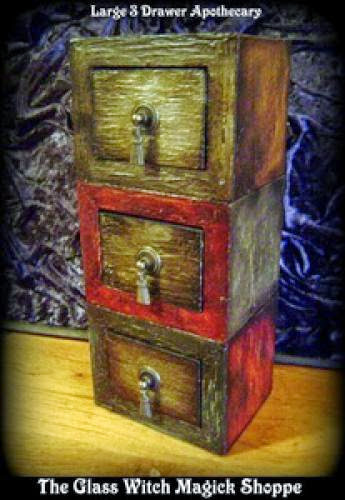 Witches Large 3 Pull Drawer Apothecary Ae 39 00