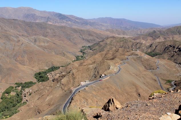 estrada para o deserto marrocos