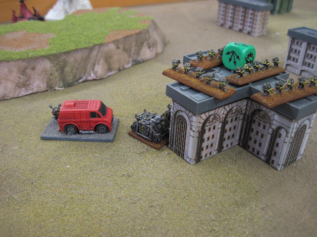 The Iron Warriors take hold of a sketchy van.