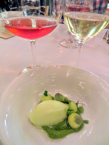 Feast 2014 Dinner,  State of the Art with Adelsheim Vineyards and Willamette Valley Vineyards, Haogen Melon, Padron Pepper, Vanilla Bean, by Matthew Tinder