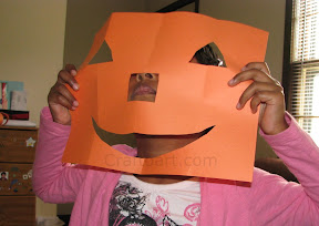 Folding and Cutting practice to make Jack-O-Lantern