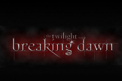 twilight breaking dawn logo - Robert Pattinson: Amanecer la Saga