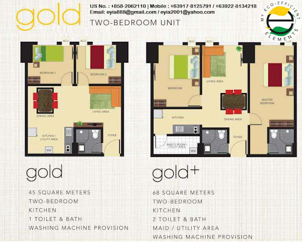 Gold Two Bedroom Unit
