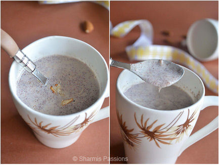 Badam Ragi Malt Recipe