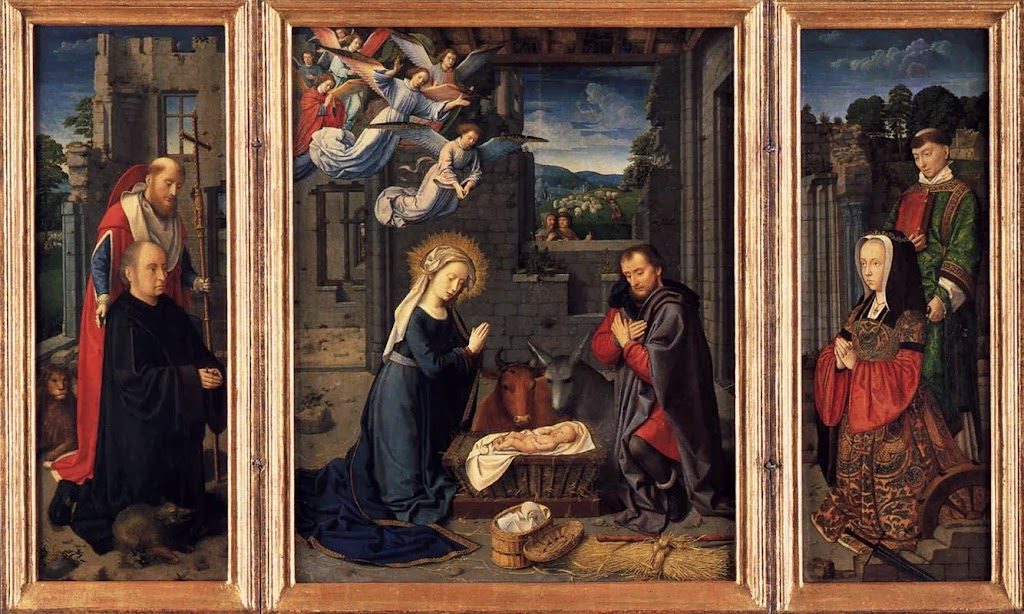 Gerard David - Triptych with the Nativity