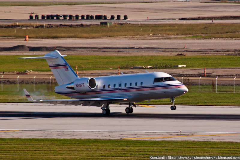 USA Ohio Columbus Federal Express Leasing Canadair CL-600-1A11 Challenger 600 США Огайо Коламбус