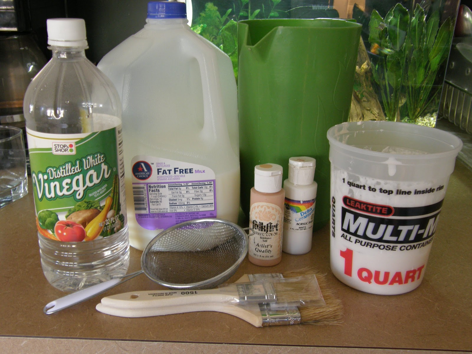 how to clean acrylic paint brushes with vinegar
