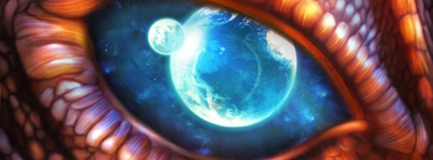 Dragon eye facebook cover