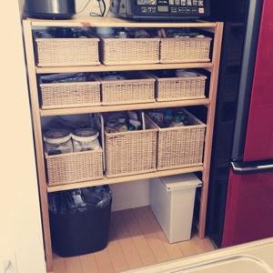 シンプルライフキッチン収納食器棚