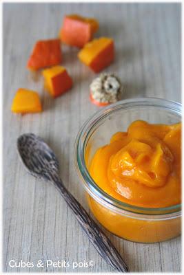recette bébé 8 mois velouté potimarron millet et parmesan