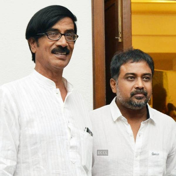 Mano Bala and Linguswamy during the press meet of Sathuranga Vettai, held in Chennai.