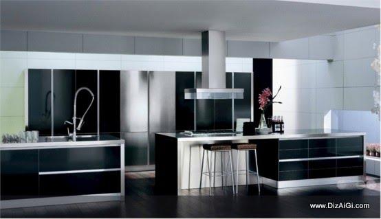 Cozinhas em preto e branco diz a gi for Black n white kitchen ideas