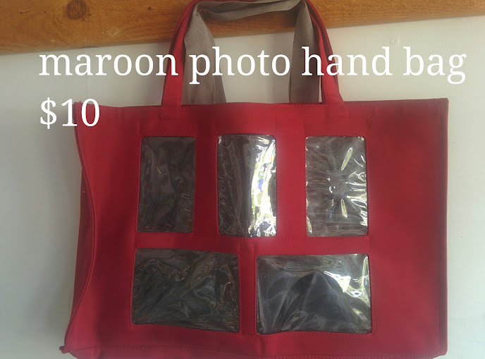Maroon Photo Hand Bag