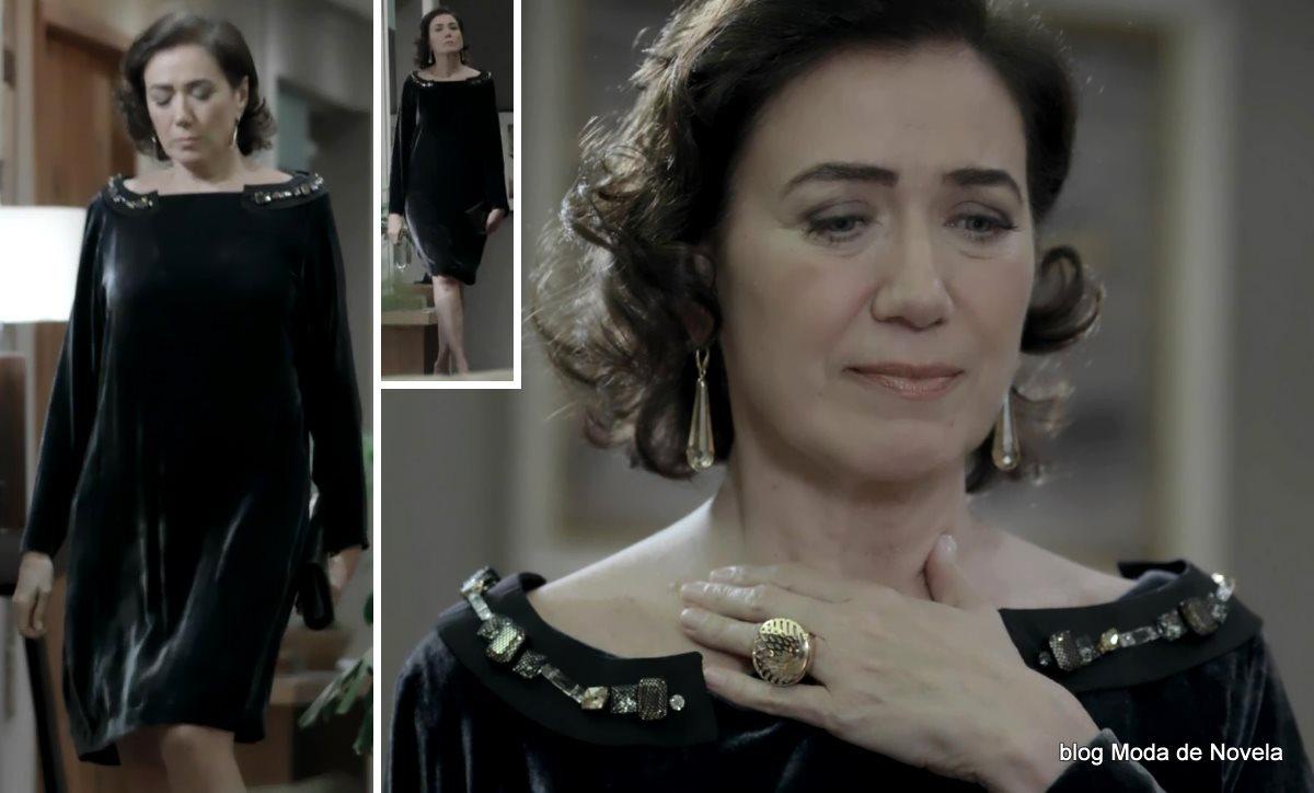 moda da novela Império, look da Maria Marta dia 8 de novembro