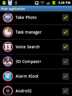 GO Launcher EX - Hide Applications