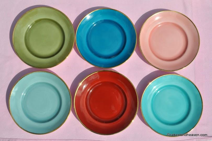 Susie Cooper Harlequin Tea Plates