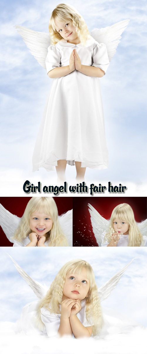 Stock Photo: Girl angel with fair hair