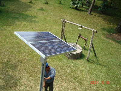 Chichoy, Submersible Solar Water Pump, 2X80W PV Panels in Tilt Rack