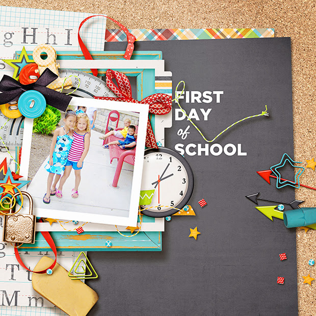 First Day of School // 12x12 // School Daze by Amber Shaw + Melissa Bennett