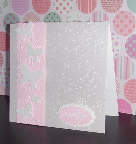 Invitación rosa pastel