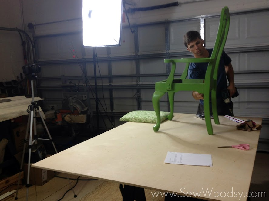 Behind the scenes...Video Tutorial Recovering a Chair Cushion