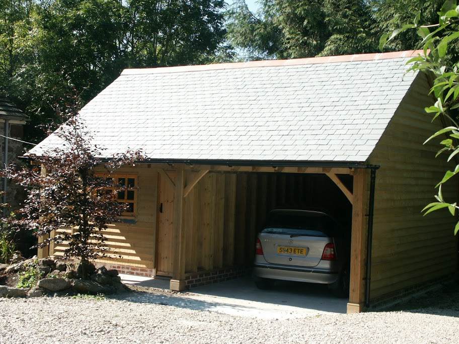 Garage Log Cabin