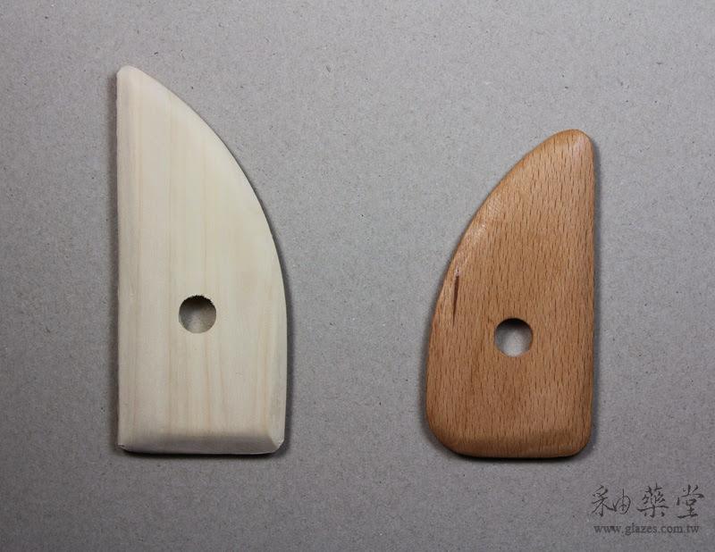 陶藝工具-木片中國與臺灣製比較