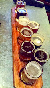 Visiting Bear Republic Brewing in Healdsburg and trying a beer flight