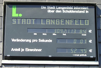Schuldenuhr: »Die Stadt Langenfeld informiert über den Schuldenstand…«.