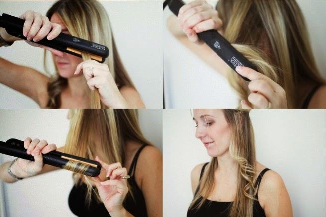 Укладка волос утюжком локоны