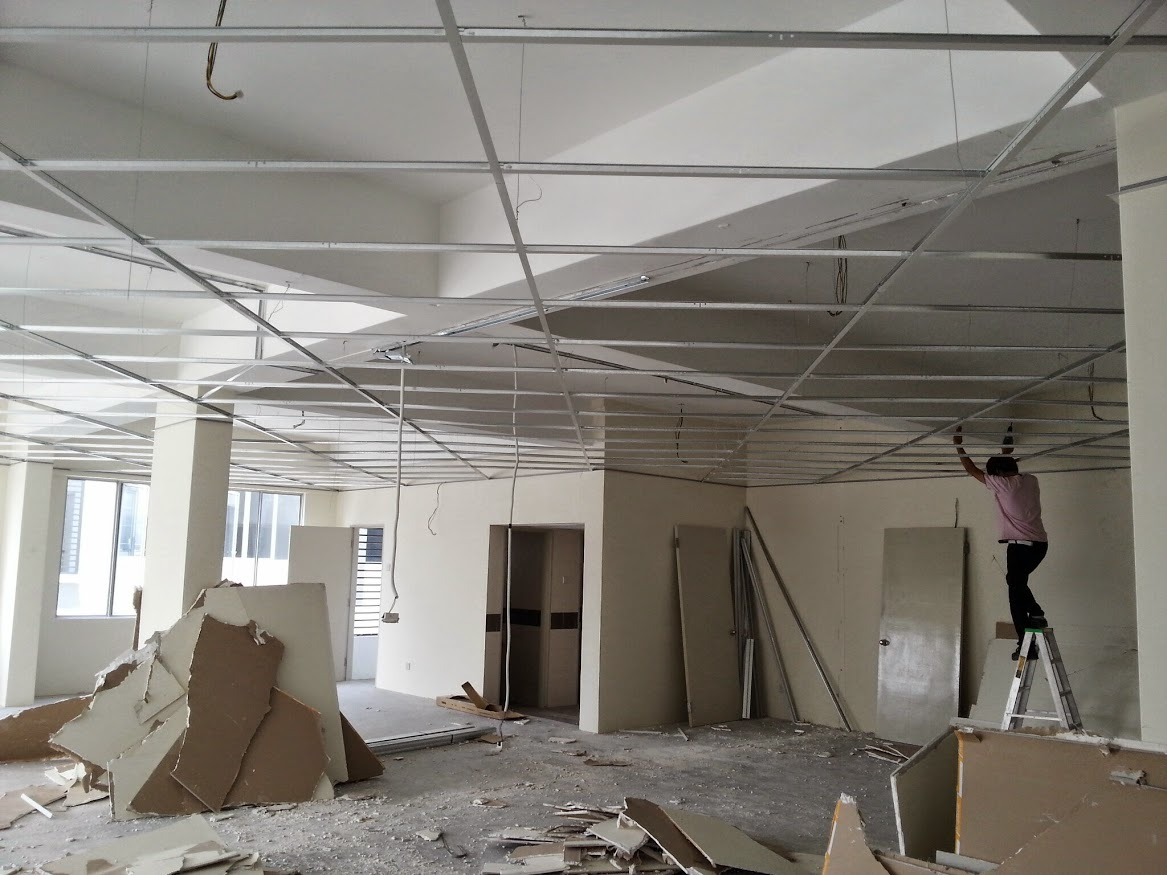 2' x 2' suspended ceiling frame