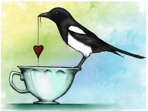 Image result for magpie with a heart