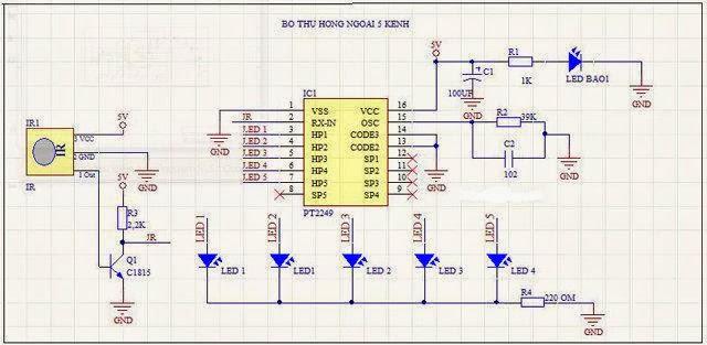 Điều khiển từ xa bằng hồng ngoại dùng PT2248