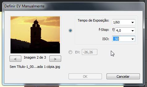 Nessa, o valor do ISO menor (50), pois a imagem é mais escura