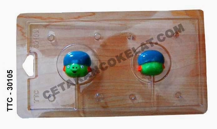Cetakan Coklat Babi TTC30105 Pig Angrybird