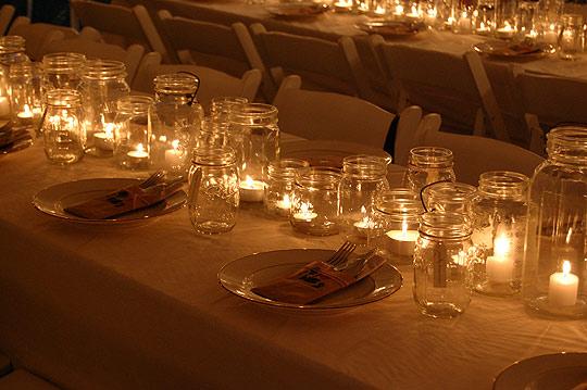 Centros de mesa con frascos y botellas - Botellas con velas ...