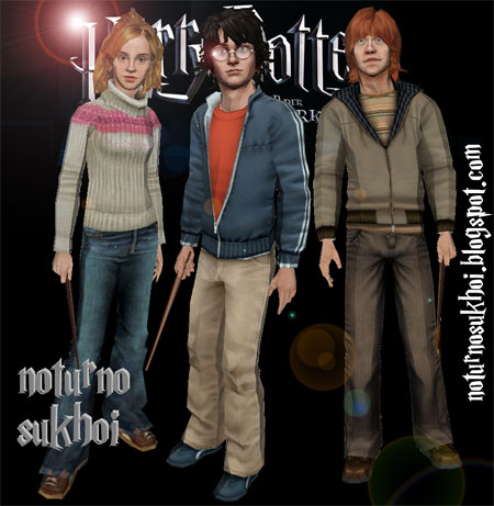 Harry Potter Paper Models Hermione Harry Ron