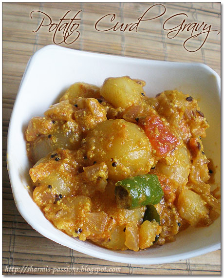 Potato in curd gravy