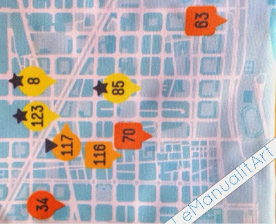 tela mapa de Barcelona