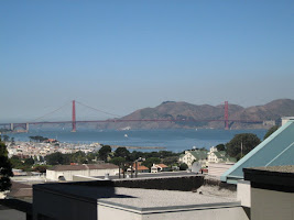The Golden Gate Bridge in San Francisco as seen from Russian Hill