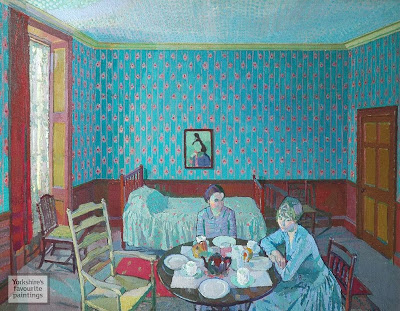 Harold Gilman - Tea in the Bedsitter