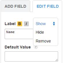 123FormBuilder Hide or show form labels