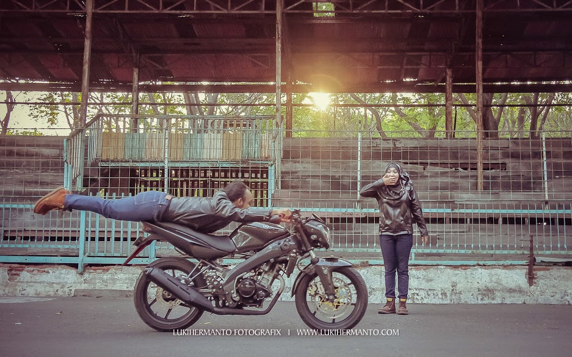 Foto prewedding biker