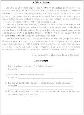 102 Textos e interpretação educaçao para crianças imprimir